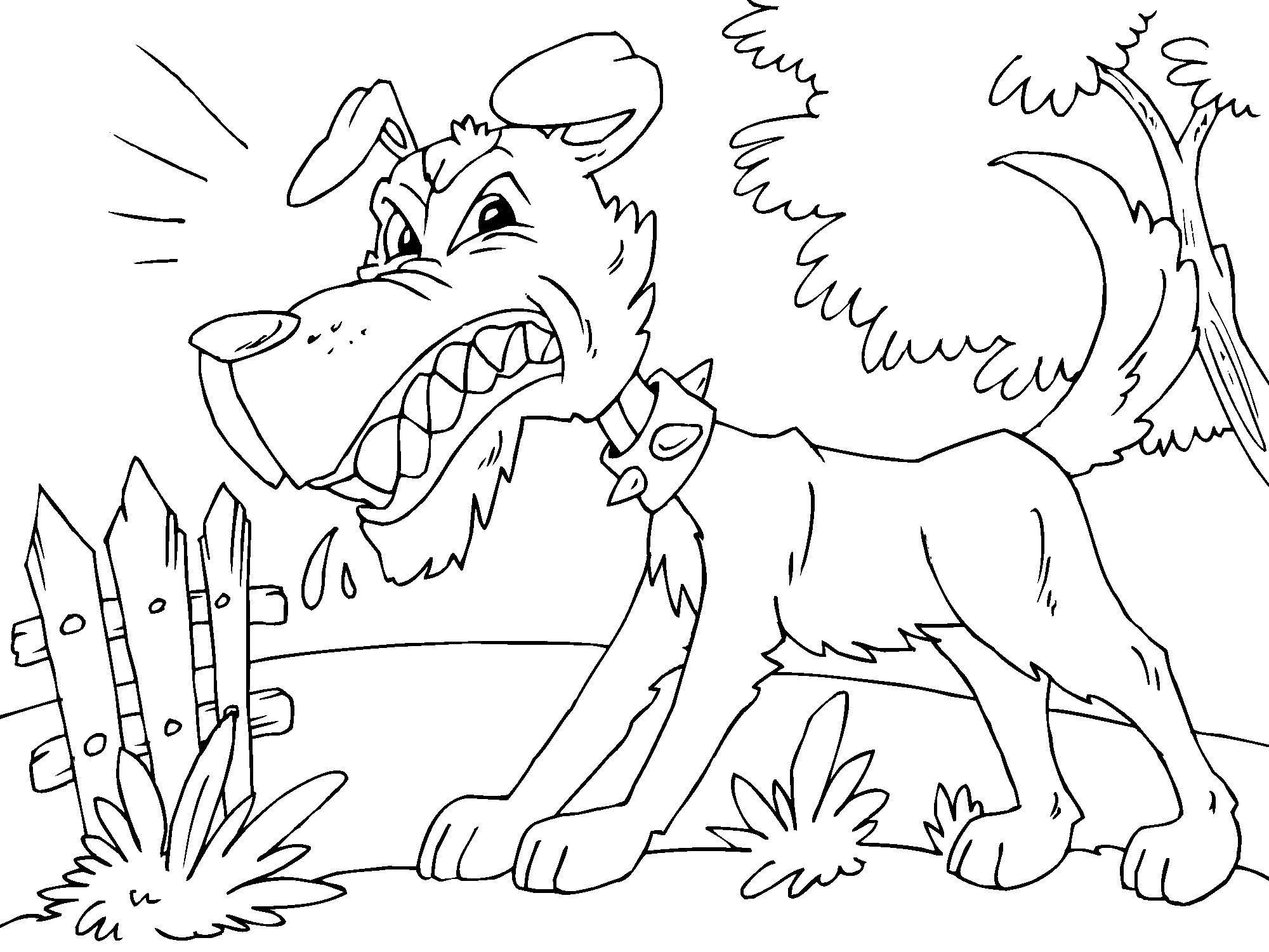 Malvorlage ärgerlicher Hund - Kostenlose Ausmalbilder Zum