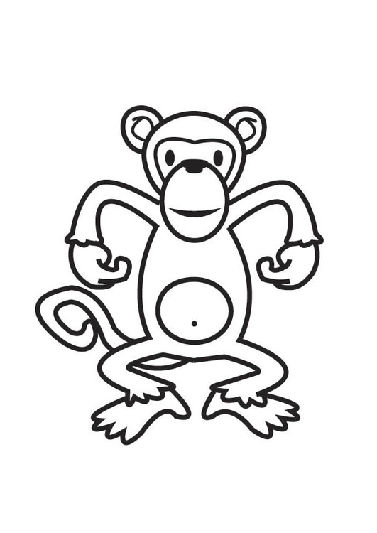 Malvorlage Affe - Kostenlose Ausmalbilder Zum Ausdrucken
