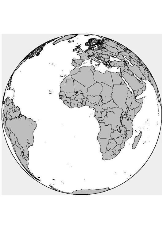Malvorlage Afrika Europa Ausmalbild 8313