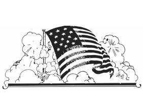 Malvorlage Amerikanische Fahne   Kostenlose Ausmalbilder ...