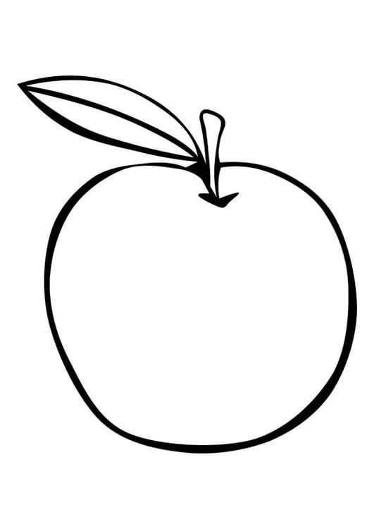 Malvorlage Apfel - Kostenlose Ausmalbilder Zum Ausdrucken