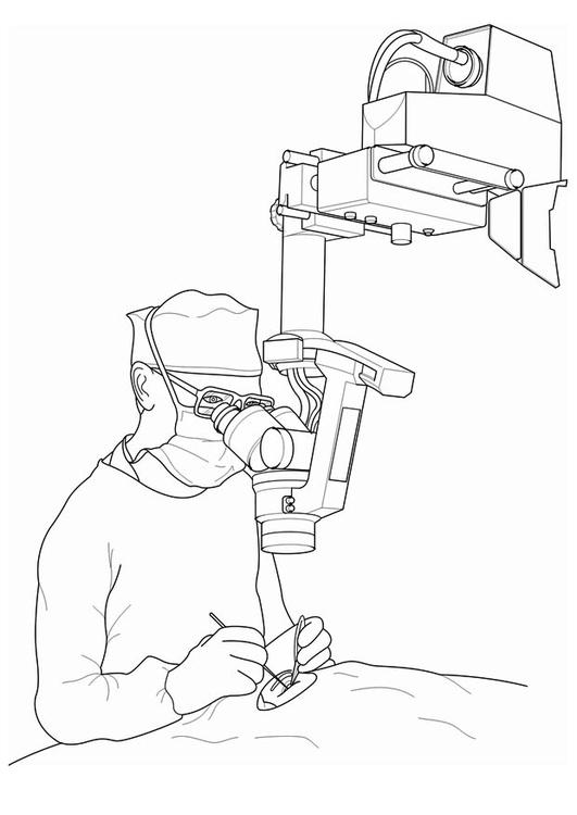Malvorlage Arzt - Operation Ausmalbild 17094