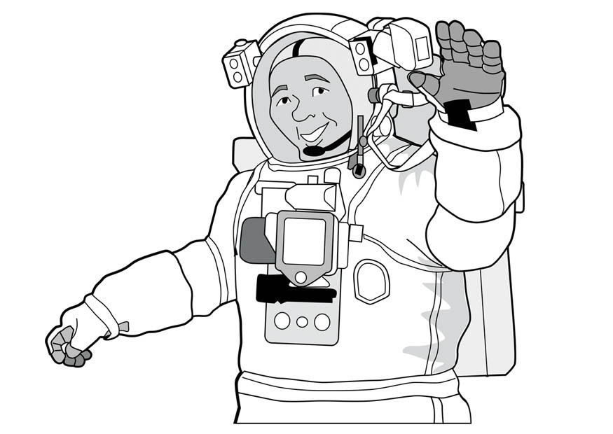 Malvorlage Astronaut - Kostenlose Ausmalbilder Zum