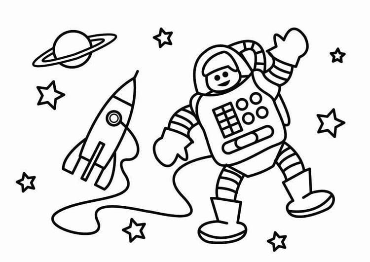 Malvorlage Astronaut - Kostenlose Ausmalbilder Zum Ausdrucken