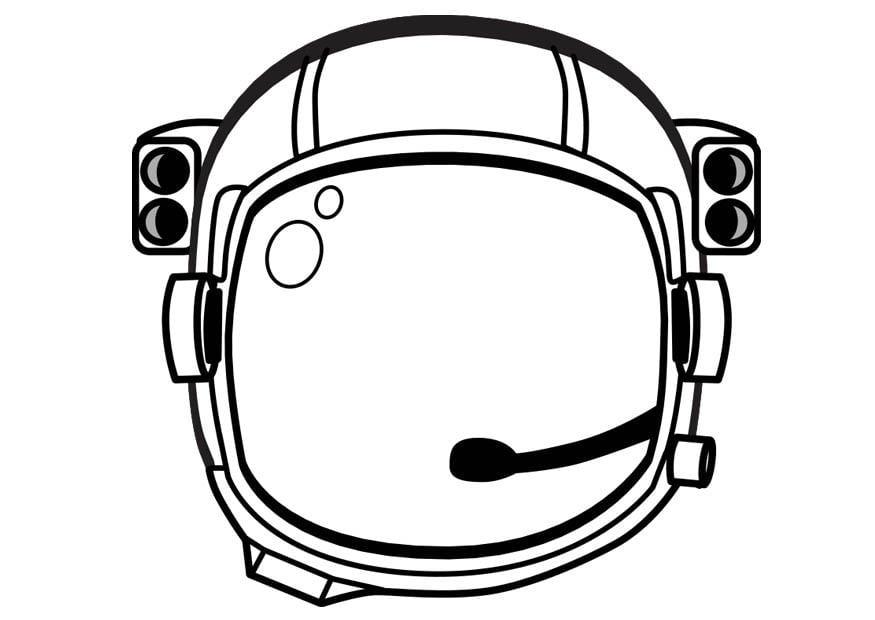 Malvorlage Astronautenhelm - Kostenlose Ausmalbilder Zum