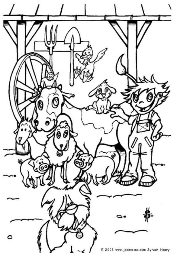 Malvorlage auf dem Bauernhof - Kostenlose Ausmalbilder Zum