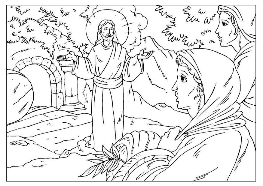 Malvorlage Auferstehung Jesus - Kostenlose Ausmalbilder