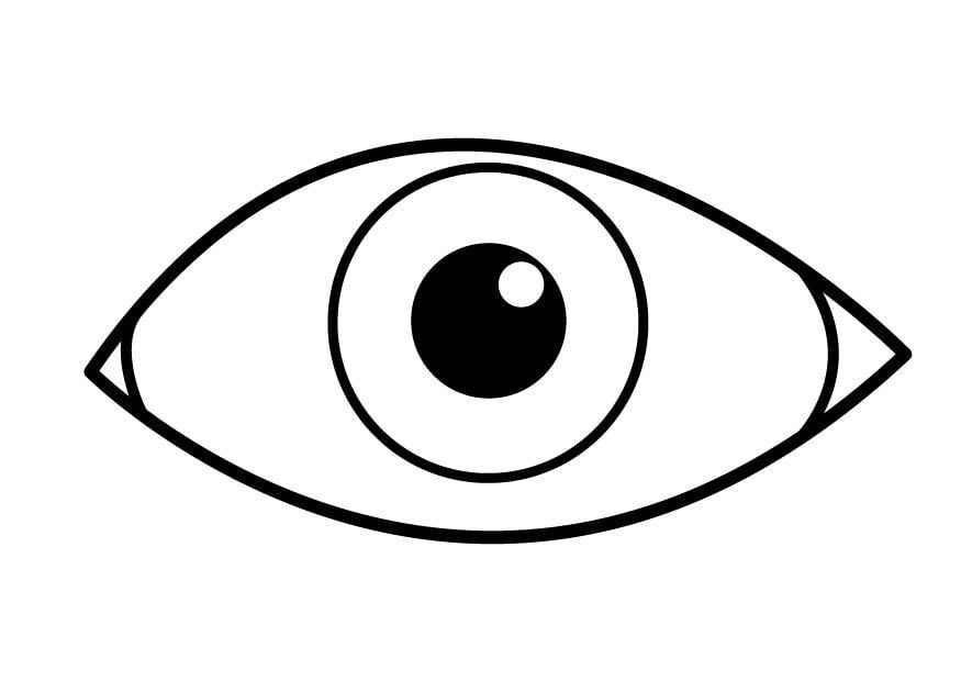 Malvorlage Auge Ausmalbild 26921
