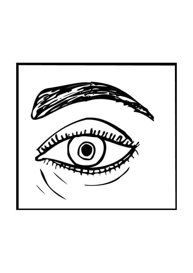 Malvorlage Auge Ausmalbild 9526