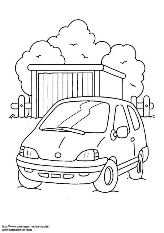 Malvorlage Auto - Kostenlose Ausmalbilder Zum Ausdrucken