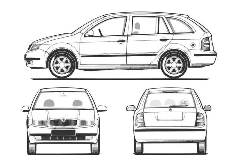 Malvorlage Auto - Fabia Ausmalbild 10257