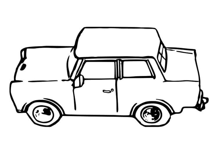 Malvorlage Auto - Trabant Ausmalbild 29109