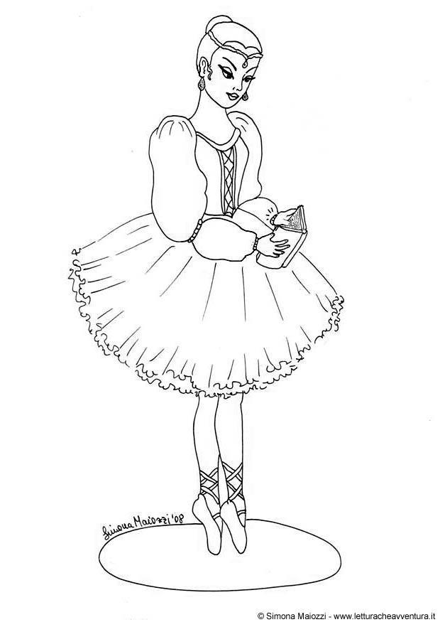 Malvorlage Ballerina - Kostenlose Ausmalbilder Zum Ausdrucken