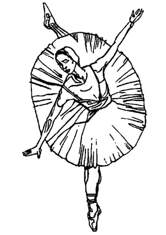 Malvorlage Ballerina Ausmalbild 9347