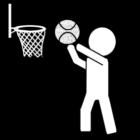 Basketball Malvorlage