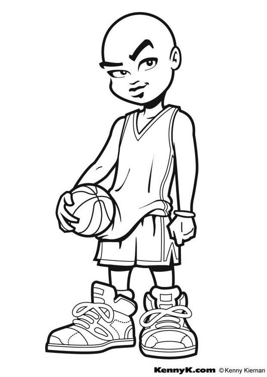 Malvorlage Basketball - Kostenlose Ausmalbilder Zum