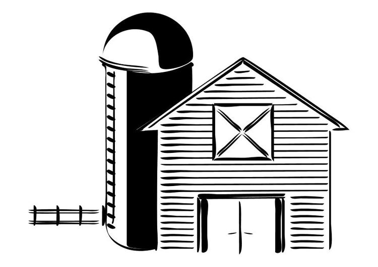 Malvorlage Bauernhof - Kostenlose Ausmalbilder Zum