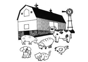 Malvorlage Bauernhof   Kostenlose Ausmalbilder Zum ...