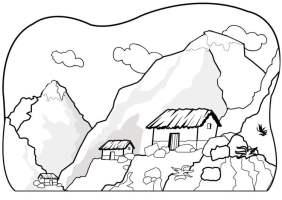 Malvorlage Berge   Kostenlose Ausmalbilder Zum Ausdrucken ...
