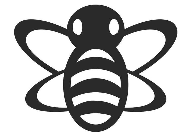 Malvorlage Biene - Kostenlose Ausmalbilder Zum Ausdrucken