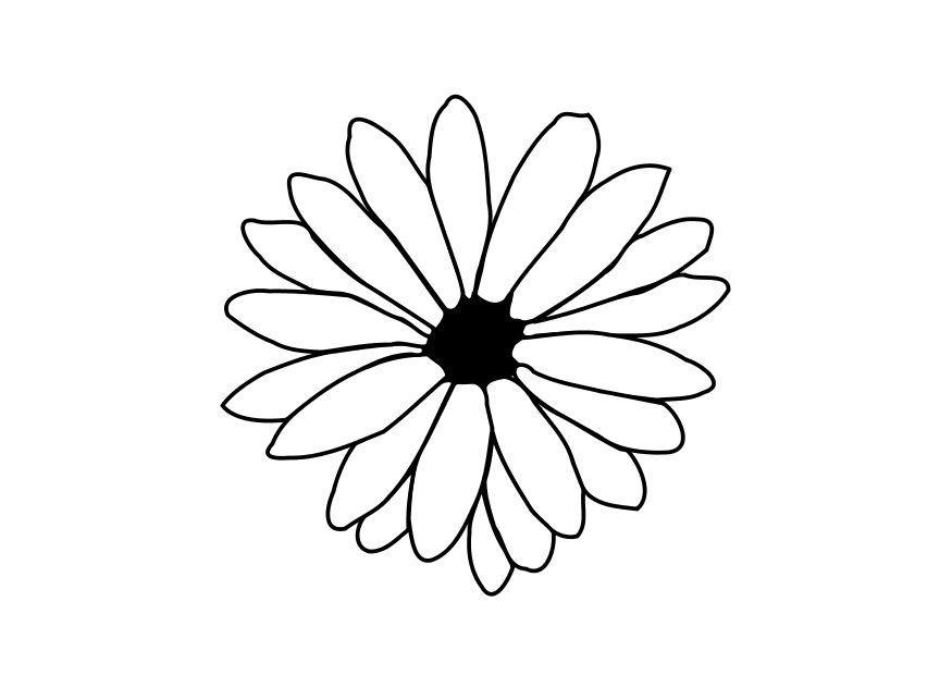 Malvorlage Blume - Kostenlose Ausmalbilder Zum Ausdrucken