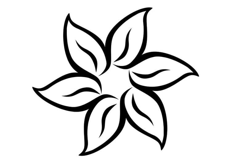 Malvorlage Blume Ausmalbild 11710