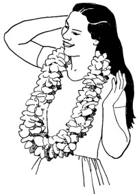 Malvorlage Blumenkranz   Ausmalbild 13825.