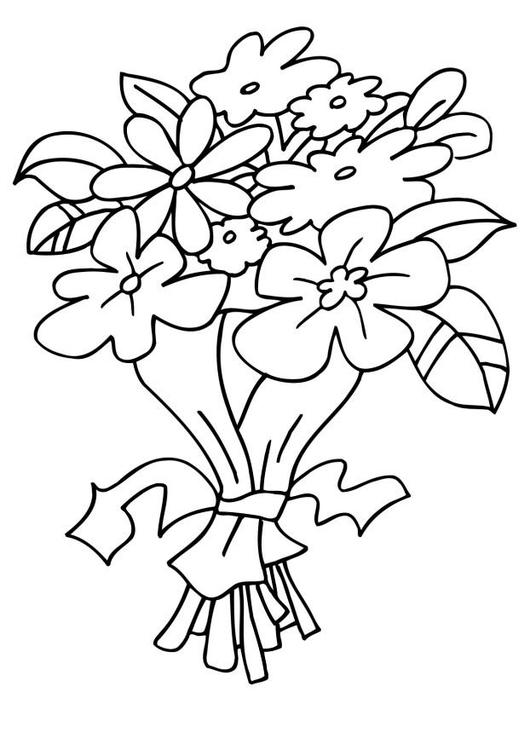 Malvorlage Blumenstrauss - Kostenlose Ausmalbilder Zum