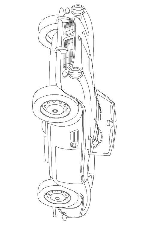 Malvorlage BMW 507 Ausmalbild 9957
