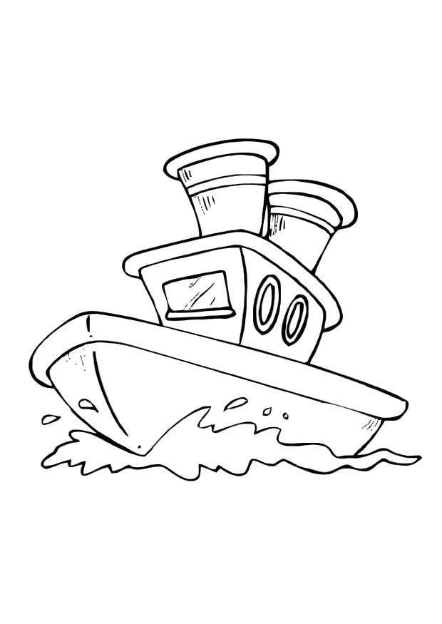 Malvorlage Boot - Kostenlose Ausmalbilder Zum Ausdrucken