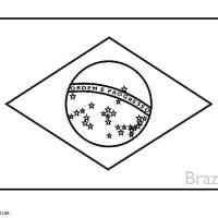Brasilien Flagge Zum Ausmalen