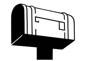 Malvorlage Briefkasten   Ausmalbild 30188.