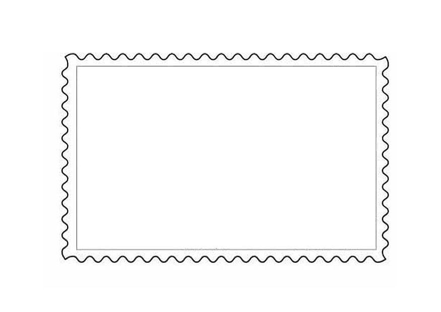 Malvorlage Briefmarke 1   Kostenlose Ausmalbilder Zum ...
