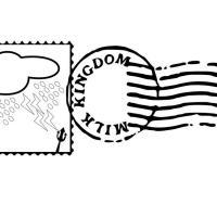 Malvorlage Briefmarke und Stempel   Ausmalbild 18690.