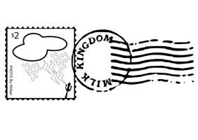 Malvorlage Briefmarke und Stempel   Kostenlose ...