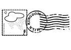 Malvorlage Briefmarke 1 - Kostenlose Ausmalbilder Zum