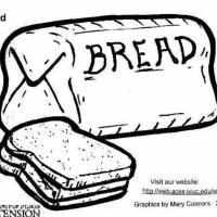 Malvorlage Brot   Kostenlose Ausmalbilder Zum Ausdrucken.