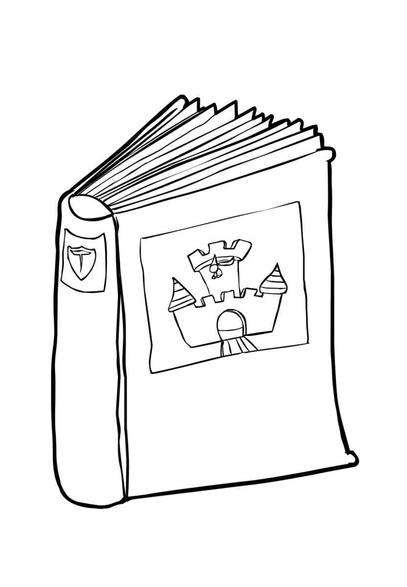Malvorlage Buch 2 (2) - Kostenlose Ausmalbilder Zum