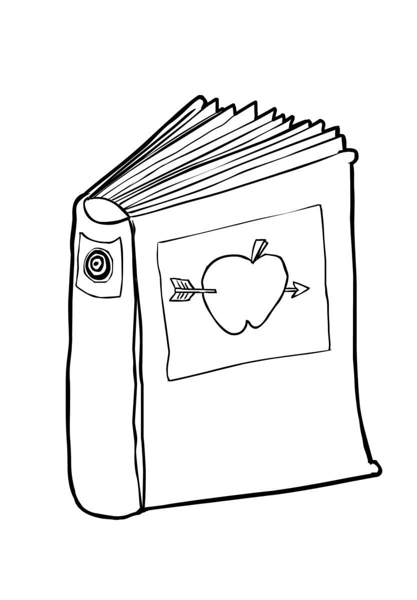 Malvorlage Buch (2) - Kostenlose Ausmalbilder Zum