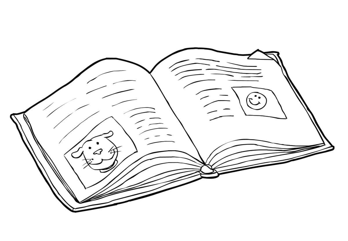 Malvorlage Buch - lesen (2) - Kostenlose Ausmalbilder Zum