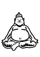 Malvorlage Buddha   Ausmalbild 10961.