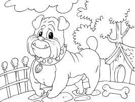 Malvorlage Bulldogge   Kostenlose Ausmalbilder Zum ...