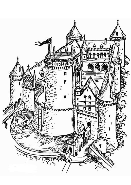 Ritterburg Malvorlage