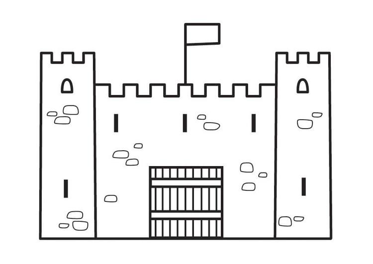 Malvorlage Burg - Kostenlose Ausmalbilder Zum Ausdrucken
