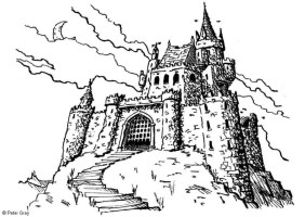Burg Bild Malvorlage   Coloring and Malvorlagan