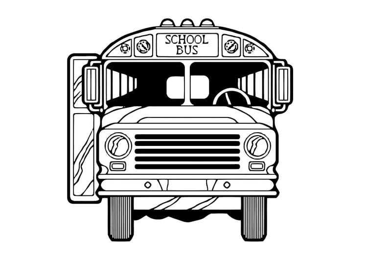 Malvorlage Bus - Kostenlose Ausmalbilder Zum Ausdrucken