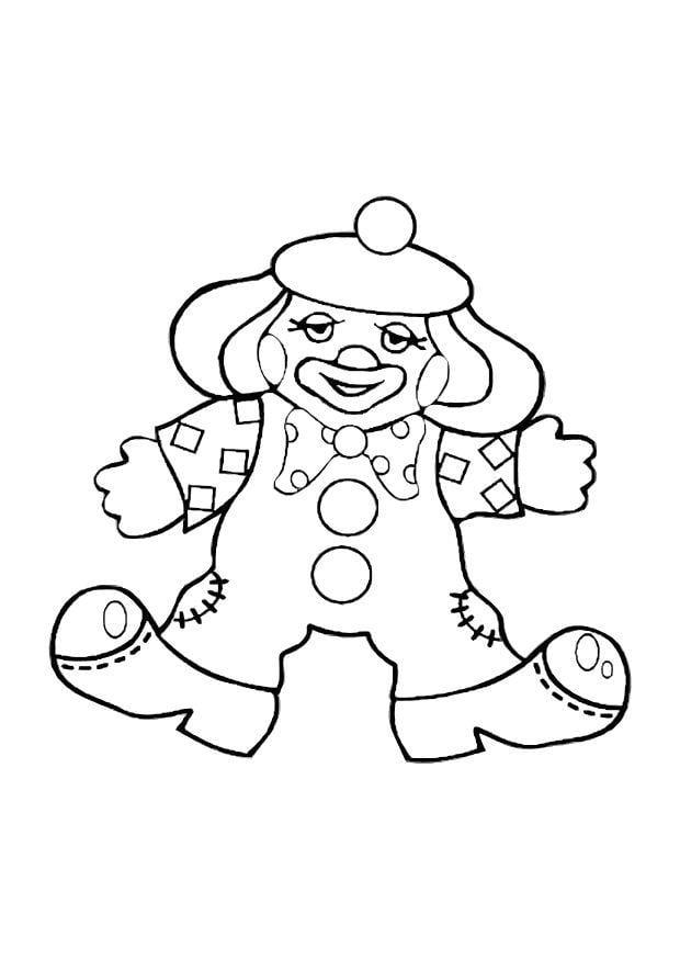 Malvorlage Clown - Kostenlose Ausmalbilder Zum Ausdrucken