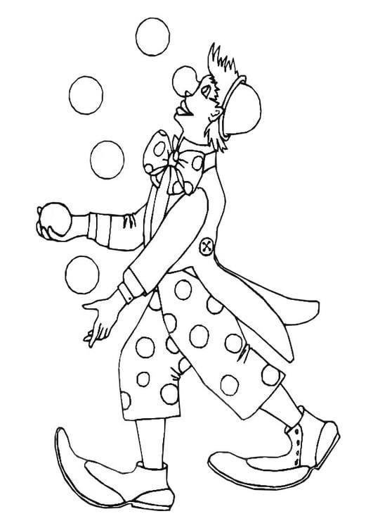 Clown Malvorlage