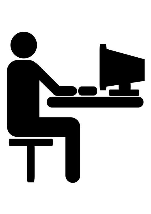 Malvorlage Computer - Kostenlose Ausmalbilder Zum Ausdrucken