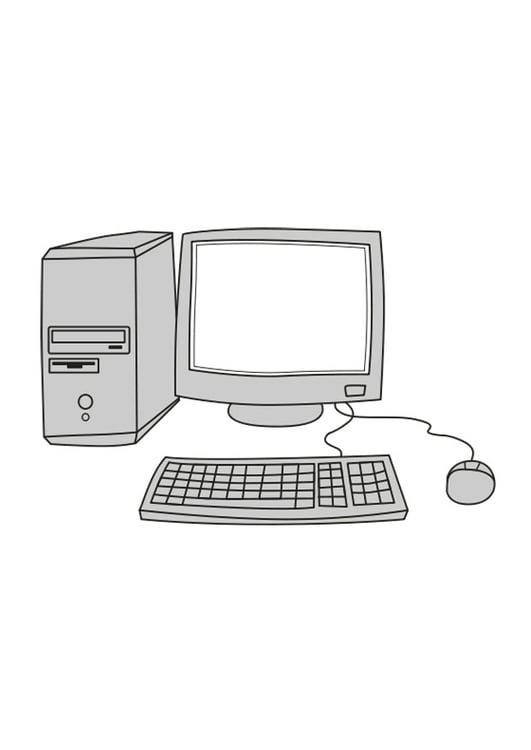 Malvorlage Computer Ausmalbild 25546